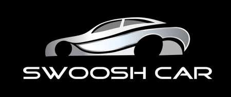 Swoosh car logo Illustration