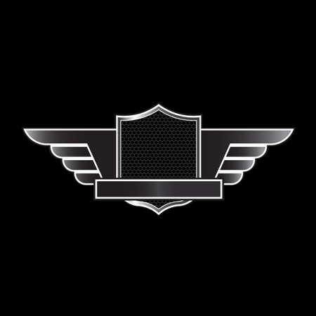shield wings: Luxury emblem Illustration