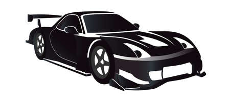 car isolated: Race Car Illustration