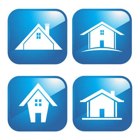 Haus Ikonen Standard-Bild - 11878127