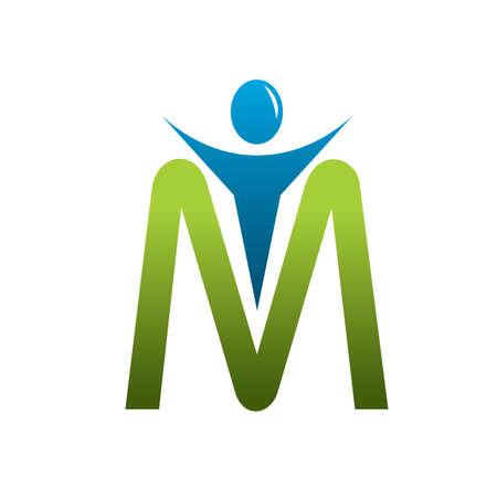 m letter man Фото со стока - 11890084