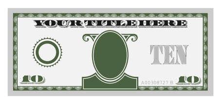 diez dinero de Bill Ilustración de vector