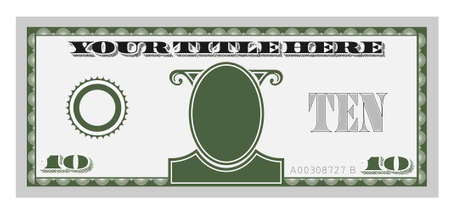 american currency: ten money bill