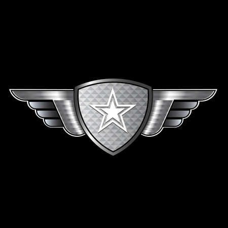 forces: Shield with wings and star