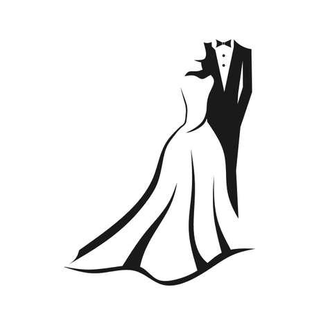 Pares de la boda Ilustración de vector