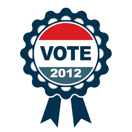 Vote 2012 badge Çizim