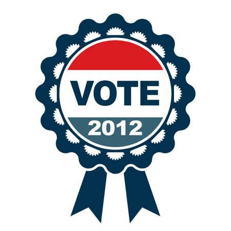 suffrage: Vote 2012 badge Illustration