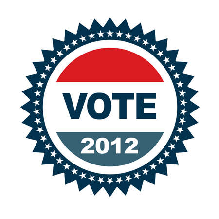Vote 2012 insignia Stock Vector - 11966346