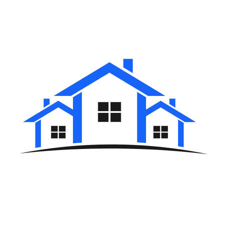 Blue houses Vector