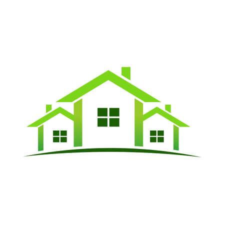 Grüne Häuser Standard-Bild - 12077641