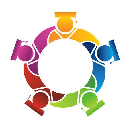 naciones unidas: El trabajo en equipo 5 graduados Vectores