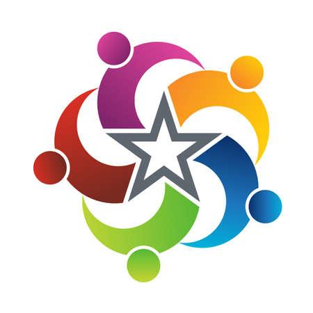 Teamwork Star Stock Vector - 12249402