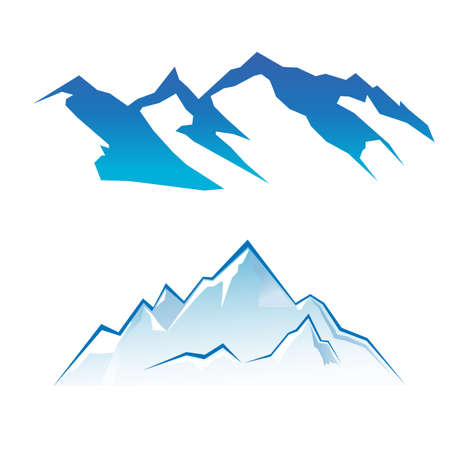 Mountain Set Illustration
