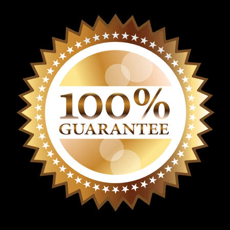 medallion: Gold seal 100% guarantee