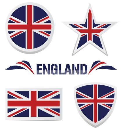 bandera inglesa: Set de iconos británicos