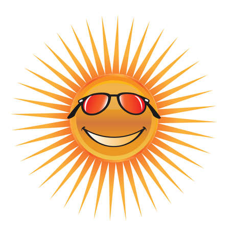 Sun character with sunglasses Stock Vector - 12937191