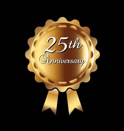 anniversaire mariage: Ruban 25e anniversaire
