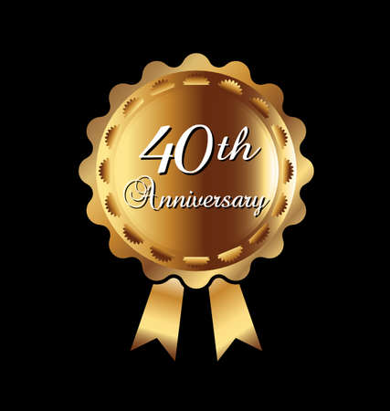 40th anniversary ribbon Vector
