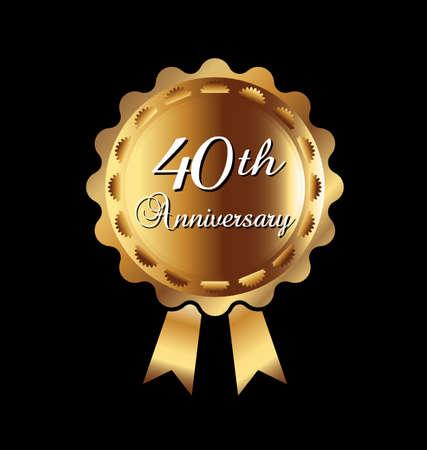 40th anniversary ribbon