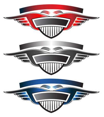 cromo: Escudo con alas