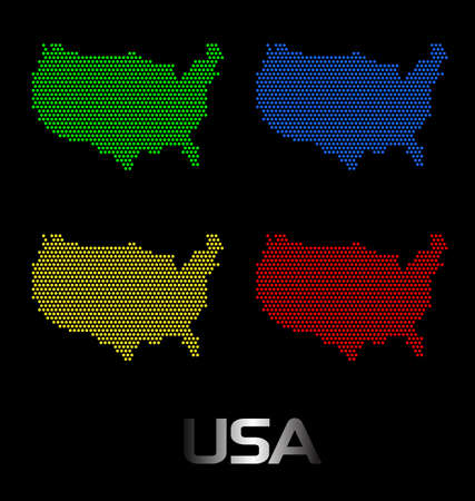 Dotted United States  maps Stock Vector - 13150326