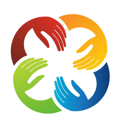 manos unidas: Trabajo en equipo manos Vectores