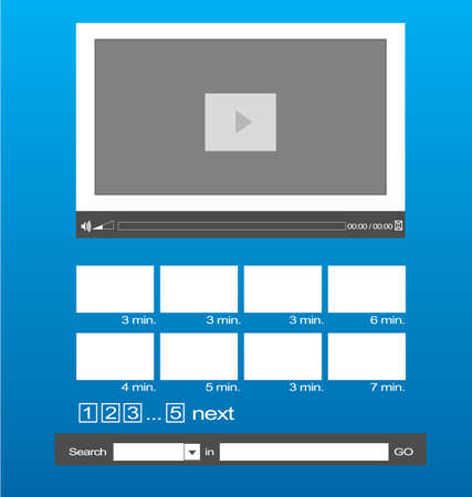 layout: Video template Layout with search and gallery