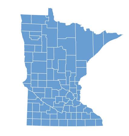 minnesota: Minnesota State Map by counties