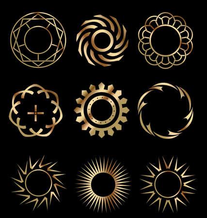 Gold design elements 1 Stock Vector - 13487323