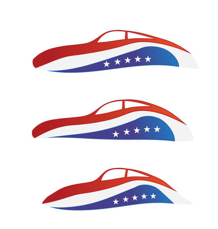 USA car swoosh Vector