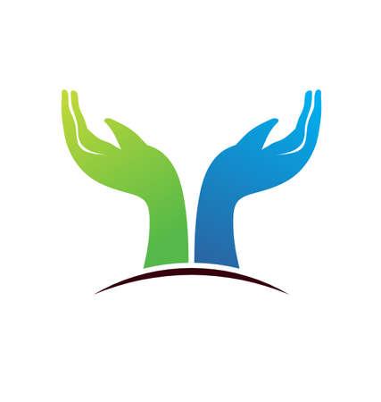 solidaridad: Espero que las manos en el horizonte que apunta hacia arriba