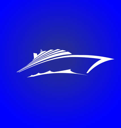 barco caricatura: Sea Cruise logotipo Vectores