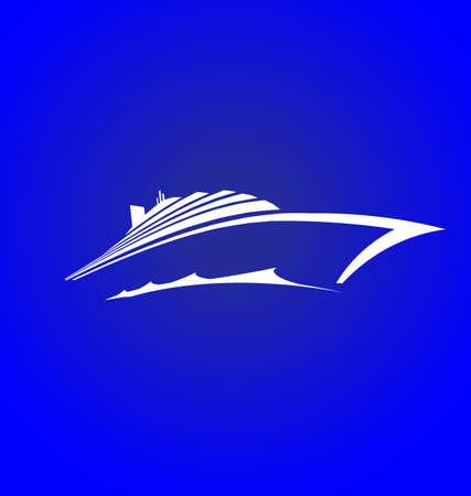 luxury travel: Sea Cruise logotipo Vectores