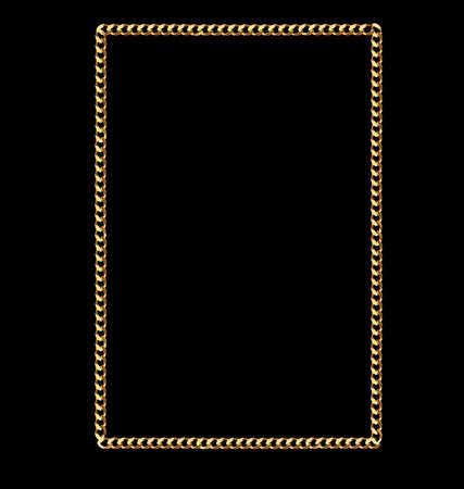 Solid Gold Piazza link Telaio Catena Archivio Fotografico - 13708566