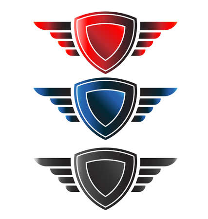 Shield with wings Vector