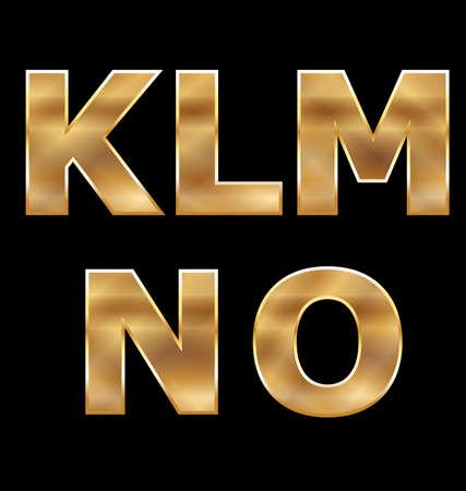 gold letters: Gold Letters Set K-O