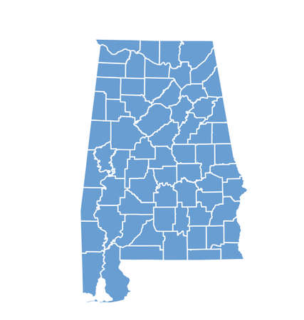 county: State Map of Alabama by counties