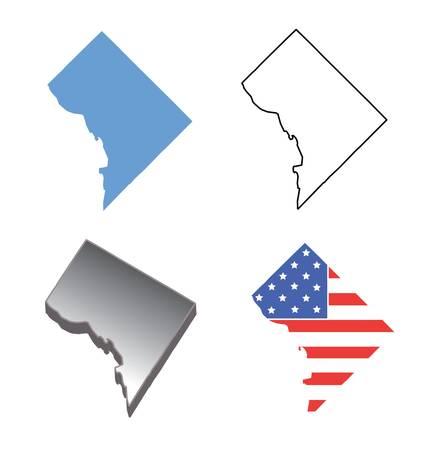 washington state: State map of Washington DC