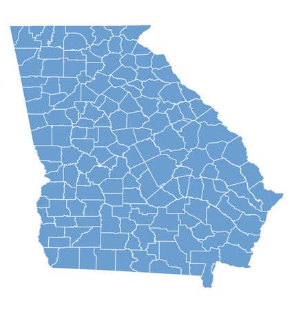 georgia: State map of Georgia by Counties