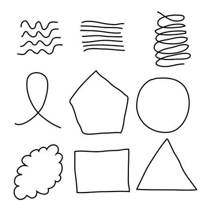 Nine Scribble Shapes Stock Vector - 13779274