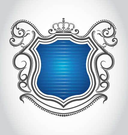 royal: Vintage emblem with crown Illustration