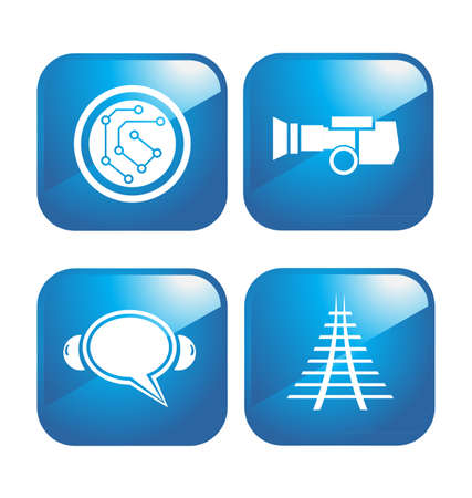 tv tower: Technology icons Illustration