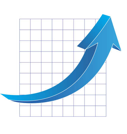 Business graph with arrow Stock Vector - 14042947