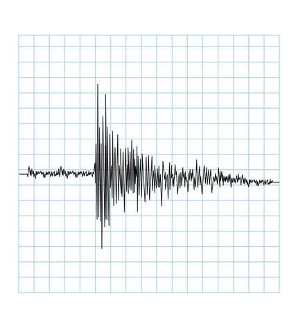 Earhquake golfvector Stock Illustratie
