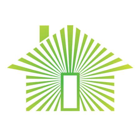 House Energy Green Illusztráció