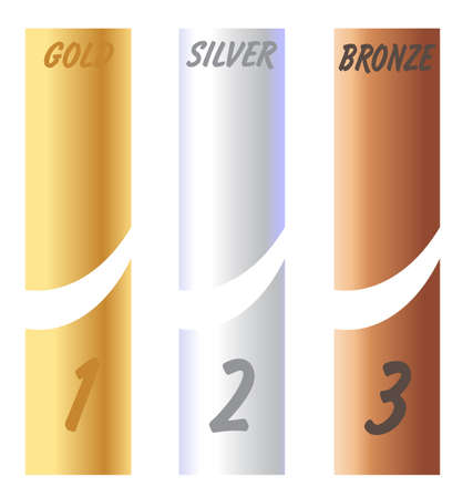 Gold Silver Bronze Labels Vector