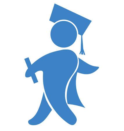 graduation cap and diploma: Graduate icon