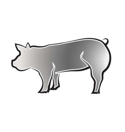 큰 돼지 일러스트