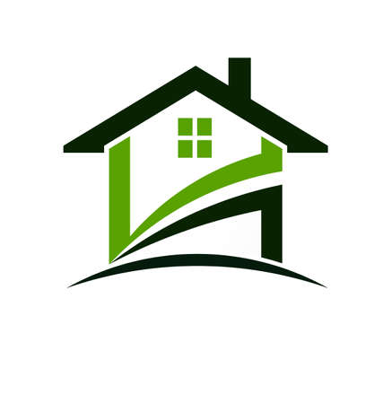 home icon: Green house swoosh
