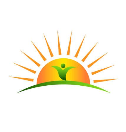 ecard: Stabilimento di sunrise Vettoriali